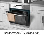 new electric oven in kitchen | Shutterstock . vector #790361734
