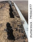 Guard Rail Damaged By The...