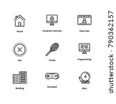 9 user interface line icon | Shutterstock .eps vector #790362157