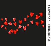 valentines day frame with red...   Shutterstock .eps vector #790362961