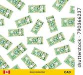 flying canadian dollar... | Shutterstock .eps vector #790366237