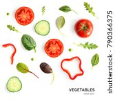 creative layout made of tomato  ... | Shutterstock . vector #790366375
