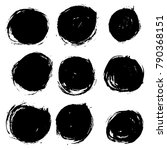 grunge ink round brush strokes. ... | Shutterstock .eps vector #790368151