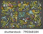 colorful vector hand drawn... | Shutterstock .eps vector #790368184