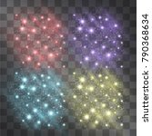 festive color mist light effect.... | Shutterstock .eps vector #790368634