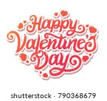 happy valentines day beautiful... | Shutterstock .eps vector #790368679