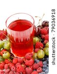 Cold fruit drink - stock photo