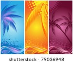 tropical palm  background summer   Shutterstock .eps vector #79036948