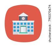 school education building  | Shutterstock .eps vector #790370674