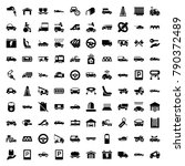 car icons. set of 100 editable... | Shutterstock .eps vector #790372489