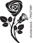 black rose art illustration | Shutterstock . vector #79037389