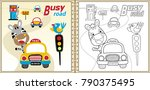 coloring book or page with... | Shutterstock .eps vector #790375495