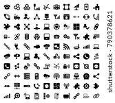connection icons. set of 100...   Shutterstock .eps vector #790378621