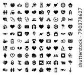 heart icons. set of 100... | Shutterstock .eps vector #790378627
