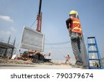 construction worker and... | Shutterstock . vector #790379674