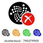 cancel iota icon. vector... | Shutterstock .eps vector #790379905