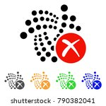 cancel iota icon. vector... | Shutterstock .eps vector #790382041