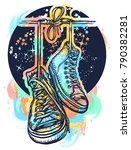 symbol of freedom  graffiti ... | Shutterstock .eps vector #790382281