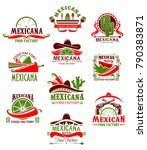 mexican restaurant sign with... | Shutterstock .eps vector #790383871