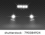 car light flash effect with... | Shutterstock .eps vector #790384924