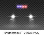 car light flash effect with... | Shutterstock .eps vector #790384927