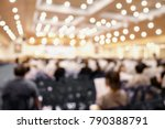 blurred business or education... | Shutterstock . vector #790388791