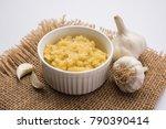 garlic paste or toum or toumya... | Shutterstock . vector #790390414
