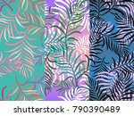 set of three seamless floral... | Shutterstock .eps vector #790390489