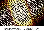 stylish abstract background... | Shutterstock . vector #790392124