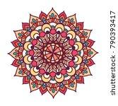 vector illustration color... | Shutterstock .eps vector #790393417
