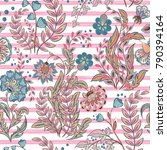 seamless floral pattern with... | Shutterstock .eps vector #790394164