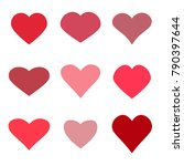 hearts set icons | Shutterstock .eps vector #790397644