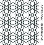 moroccan stars seamless pattern....   Shutterstock .eps vector #790398199