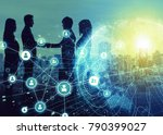 business network concept.... | Shutterstock . vector #790399027