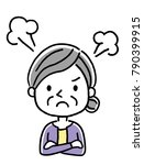 senior woman  get angry | Shutterstock .eps vector #790399915