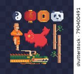 chinese tradition elements.... | Shutterstock .eps vector #790400491