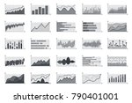 financial market information... | Shutterstock .eps vector #790401001