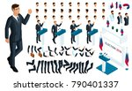 create your isometric character.... | Shutterstock .eps vector #790401337
