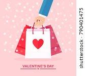 valentine's day illustration.... | Shutterstock .eps vector #790401475