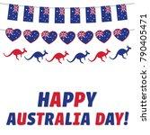 happy australia day  vector... | Shutterstock .eps vector #790405471