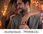 happy couple dancing together... | Shutterstock . vector #790406131
