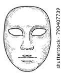 venetian mask illustration ... | Shutterstock .eps vector #790407739
