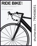 cycling poster vector... | Shutterstock .eps vector #790408051