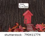 close up of tree trunk with... | Shutterstock . vector #790411774