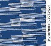 indigo vector tie dye seamless... | Shutterstock .eps vector #790414204