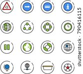 line vector icon set   round... | Shutterstock .eps vector #790416115