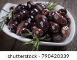 cured  pickled or brined olive... | Shutterstock . vector #790420339