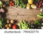 frame of fresh organic... | Shutterstock . vector #790420774