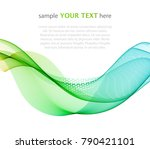 color abstract wave on a light...   Shutterstock .eps vector #790421101