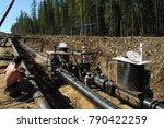 construction site of oil... | Shutterstock . vector #790422259